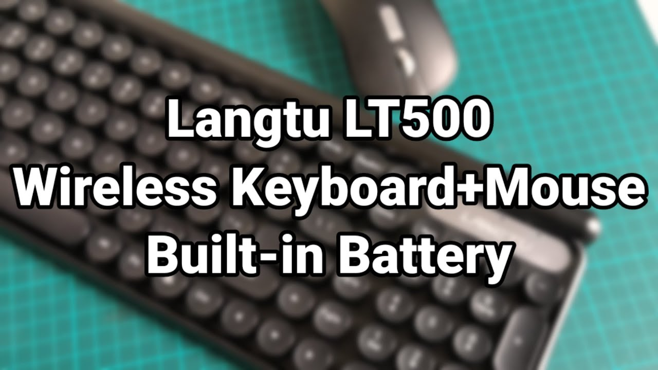 Langtu LT500 wireless keyboard & mouse, with built-in battery